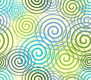 Bezszwowy abstrakcjonistyczny tło z zawijasami Obraz Stock
