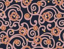 Bezszwowy abstrakcjonistyczny tradycyjny kwiatu wzór ilustracja wektor