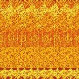 Bezszwowy abstrakcjonistyczny wektor paskujący textured jak wzór w pomarańczowych brzmieniach ilustracji