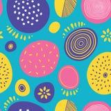Bezszwowy abstrakcjonistyczny wektoru wzór z okręgami Obraz Royalty Free