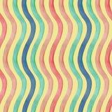 Bezszwowy abstrakt fala akwareli tło Rocznika kolor Obraz Stock