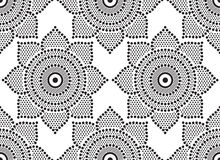 Bezszwowy abstrakt kropkujący wzór Obrazy Royalty Free