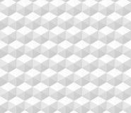 Bezszwowy abstrakta 3d tło robić sześciokąt struktury w bielu Zdjęcia Royalty Free