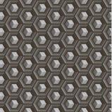 Bezszwowy abstrakta 3D wzór - sześciany w hex wklęsłych komórkach Obraz Royalty Free