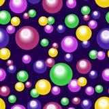 Bezszwowy abstrakta wzór barwioni okręgi Zdjęcia Stock