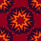 Bezszwowy abstrakta wzór dla childs ubrań czerwonego koloru Kreatywnie wektorowy tło z kropkami, pomaduje, buty, gwiazda śmieszny royalty ilustracja