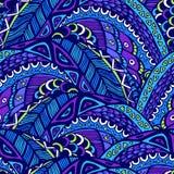 Bezszwowy abstrakta wzór w doodle stylu ilustracja wektor
