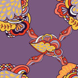 Bezszwowy abstrakta wzór z elementami fantazj rośliny Fotografia Royalty Free