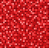 Bezszwowy abstrakta wzór z kwadratami w czerwonym kolorze Wektorowy geometrical tło Zdjęcie Royalty Free
