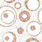 Bezszwowy abstrakta wzór z okręgami i chaotycznymi punktami Fotografia Stock