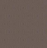 Bezszwowy abstrakta wzór Z sześciokątami Zdjęcie Stock