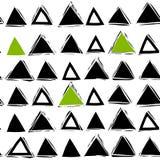 Bezszwowy abstrakta wzór z trójbokami Obrazy Stock