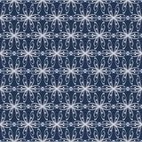 Bezszwowy abstrakta wzór z wyginającymi się abstrakcjonistycznymi elementami Obraz Royalty Free
