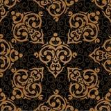 Bezszwowy adamaszkowy luksusowy tło Fotografia Stock