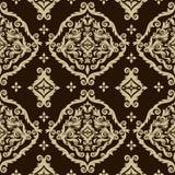 Bezszwowy adamaszkowy tło Obrazy Stock