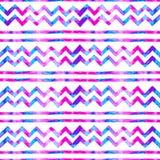Bezszwowy akwarela wzór Geometrical pasiasty tło sim Fotografia Stock