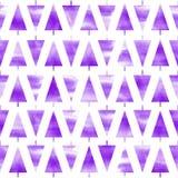 Bezszwowy akwareli choinki wzór Akwareli bożych narodzeń tło Akwarela wzór obraz royalty free