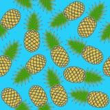 Bezszwowy ananasa wzór obraz stock