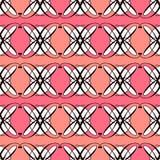 Bezszwowy antyka wzoru ornamentu geometryczny art deco elegancki bac Obrazy Royalty Free