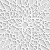 Bezszwowy arabski geometryczny wzór, wschodni ornament, indyjski ornament, perski motyw royalty ilustracja