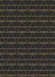 Bezszwowy art deco stylu wzór Obraz Stock