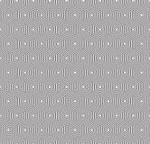 Bezszwowy art deco sześciokąta abstrakcjonistyczna geometryczna tekstura Koncentryczny heksagonalny konturu wzór royalty ilustracja