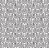 Bezszwowy art deco sześciokąta abstrakcjonistyczna geometryczna tekstura Koncentryczny heksagonalny konturu wzór ilustracji