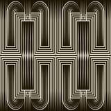 Bezszwowy art deco wzoru ornament Geometryczny elegancki tło Obraz Stock