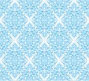 Bezszwowy błękita adamaszka wzór Obraz Royalty Free