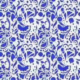 Bezszwowy błękita wzór Zdjęcia Stock