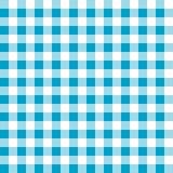 Bezszwowy błękitny biały tablecloth wzór Fotografia Stock
