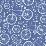 Bezszwowy błękitny bicyklu wzór Zdjęcia Royalty Free