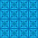 Bezszwowy błękitny geometryczny wzór Zdjęcia Royalty Free