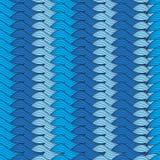 Bezszwowy błękitny tło z trykotowymi rzędami Zdjęcie Stock