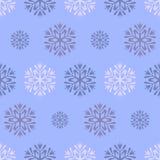 Bezszwowy błękitny zima wzór z diamentem kropki i płatki śniegu Zdjęcie Stock
