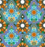 Bezszwowy barwiący geometryczny marokańczyka wzór Zdjęcie Royalty Free