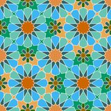 Bezszwowy barwiący geometryczny marokańczyka wzór Obraz Royalty Free