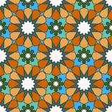Bezszwowy barwiący geometryczny marokańczyka wzór Zdjęcia Royalty Free