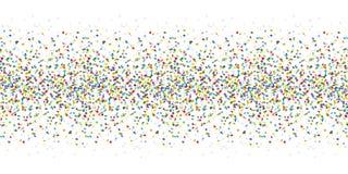 bezszwowy barwiony confetti tło ilustracja wektor