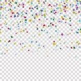 bezszwowy barwiony confetti tło z wektorową przezroczystością royalty ilustracja