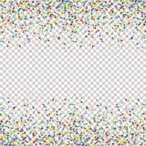 bezszwowy barwiony confetti tło z wektorową przezroczystością ilustracja wektor