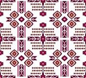 Bezszwowy barwiony etniczny projekt z liniami na białym tle Bezszwowy barwiony etniczny projekt na białym tle dla tekstylnego dru ilustracji