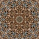 Bezszwowy barwiony metalu arabesk 003 Zdjęcia Royalty Free