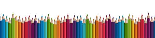 bezszwowy barwiony ołówka rząd royalty ilustracja