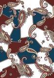 Bezszwowy barwiony Paisley wz?r, ?ata dla druku, tkanina, tekstylny projekt royalty ilustracja