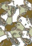 Bezszwowy barwiony Paisley wz?r, ?ata dla druku, tkanina, tekstylny projekt ilustracja wektor