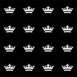Bezszwowy biały korona wzór Czarny tło Obraz Stock
