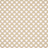 Bezszwowy biały serce wzór na brown tle ilustracja wektor