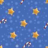 Bezszwowy boże narodzenie wzór z gwiazdami Zdjęcie Stock