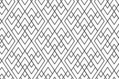Bezszwowy boho stylu wzór z zarysowaną rhombus powtórką ilustracji
